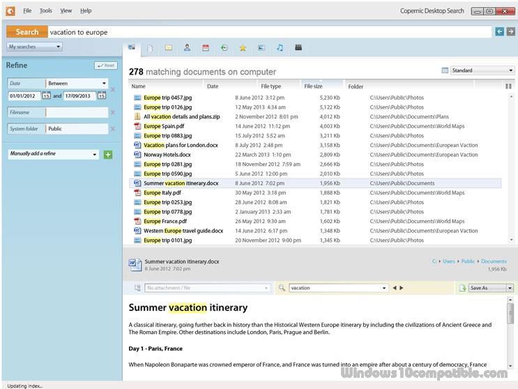 free desktop search windows 10